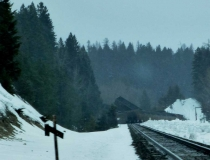 I passed a train wreck between Whitefish and Eureka