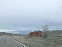 An old abandoned substation on the way to Roundup