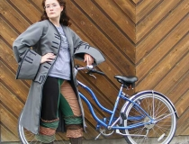 Christy McDougall with bicycle