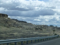 The landscape between Roundup and Billings shows why Montana is Big Sky Country.