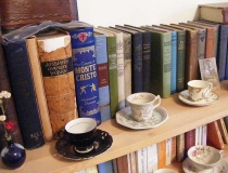 Classic literature with teacups