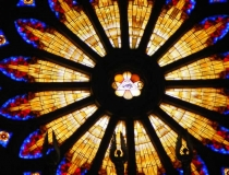 Rose window Cathedral of St. Peter and St. Paul in Đakovo Croatia