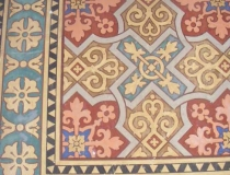 Painted floor in Cathedral of St. Peter and St. Paul in Đakovo Croatia