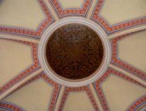 Domed ceiling in Cathedral of St. Peter and St. Paul in Đakovo Croatia