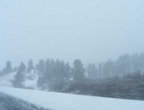 Driving in a blizzard near Helena