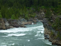 View from the Kootenai Falls Swinging Bridge