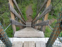 Kootenai Falls Swinging Bridge