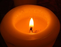 Macro image of a candle