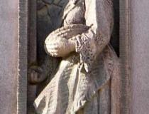 Carving of Croatian girl