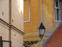War damage on walls in Tvrđa
