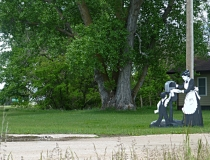 Villagers of Taylor, NE - wooden art