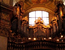 Pipe organ in St Peter's Church Peterskirche Vienna