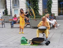 Hang drum musican in Vienna