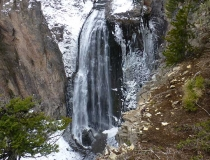 A waterfall at the top of Highway 12.
