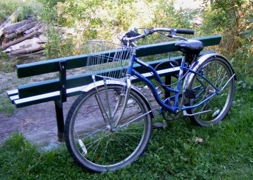 Bike. Did I mention my bike? This is The Blue Gale. One of my best friends.