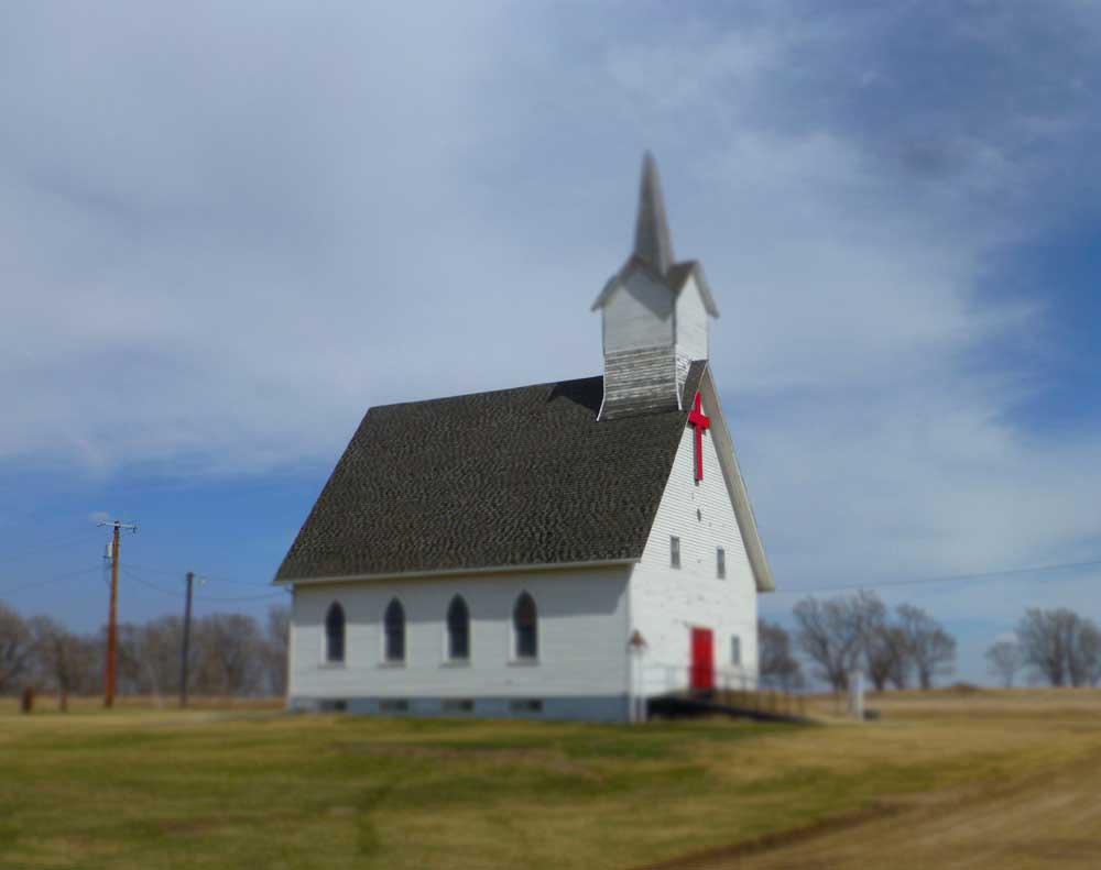 A South Dakota country church