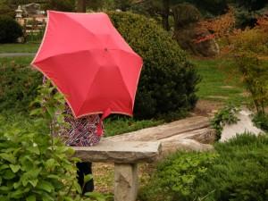 Christy McDougall in a Japanese garden