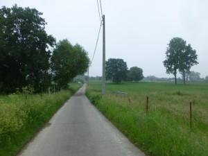 Narrow rural roads in Flanders